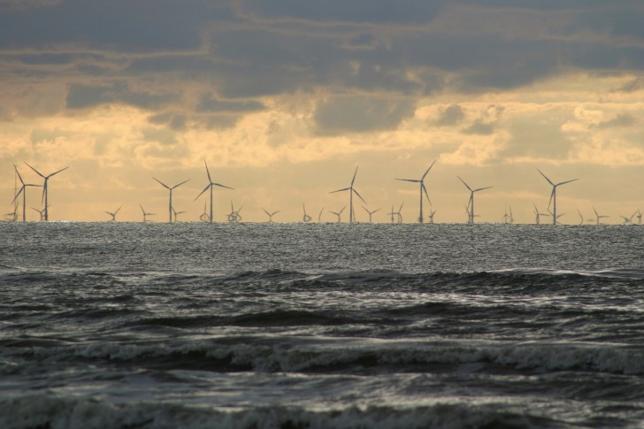 Windkraftanlagen Offshore-Windpark
